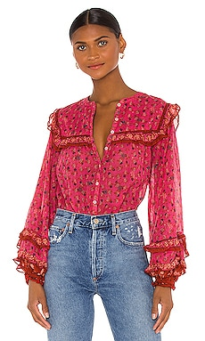 Jenna Printed Blouse Free People $98 BEST SELLER