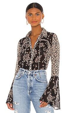 Serena Printed Blouse Free People $98 NOUVEAU