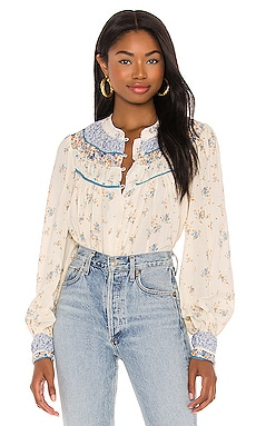 Paloma Printed Blouse Free People $118 BEST SELLER