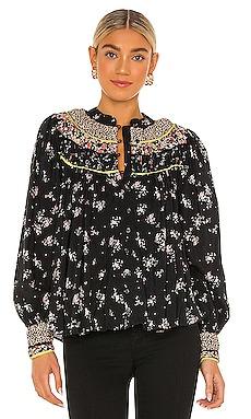 Paloma Printed Blouse Free People $32 (FINAL SALE)