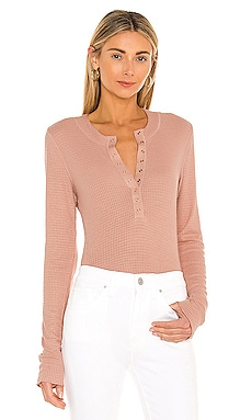 One Of The Girls Henley Top Free People $40