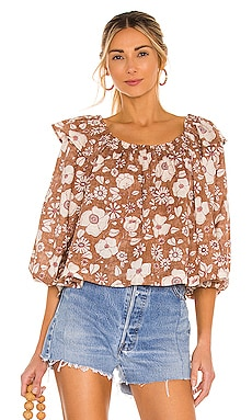 Miss Daisy Printed Top Free People $98 NEW