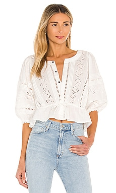Daisy Chain Eyelet Top Free People $128 NUEVO
