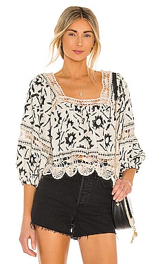 Soleil Embroidered Top Free People $168