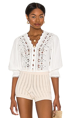 Louella Embroidered Top Free People $78
