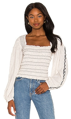 Maggie Embroidered Top Free People $148