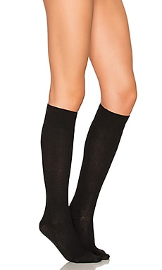 Free People Bellevue Knee High Socks in Black