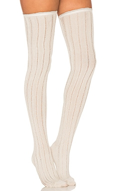 All for One Over the Knee Socks in Ivory