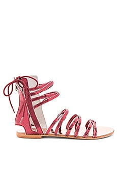 Juliette Wrap Sandal in Red