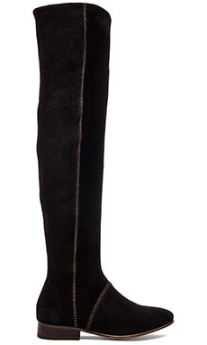 Free People Grandeur Over the Knee Boot in Black