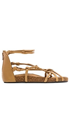 Free People Redlands Footbed Sandal in Tan