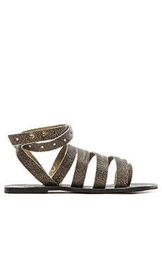 Free People Sunever Sandal in Washed Black
