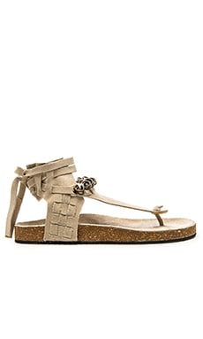 Free People Collins Footbed Sandal in Stone