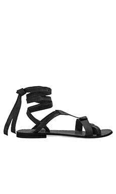 Free People Oliviera Wrap Sandal in Black