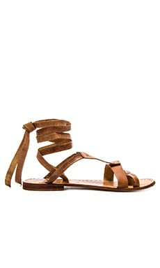 Free People Oliviera Wrap Sandal in Tan