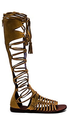 Free People Sun Seeker Gladiator Sandal in Honey Whiskey