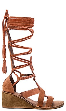 Free People Saltarello Mini Wedge in Rust