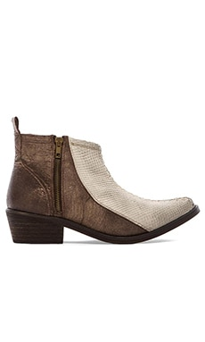 Free People Flying Ranch Ankle Boot in Bone Combo
