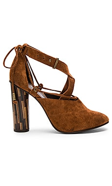 Nouvella Wrap Heels in Brown