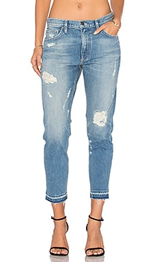 Distressed Release Hem Boyfriend