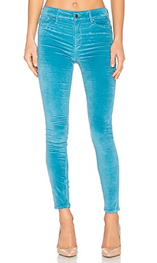 Velveteen High Rise Skinny in Blue