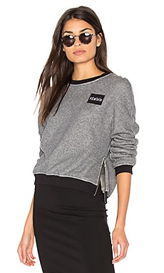 Patch Pullover Sweatshirt en Gris