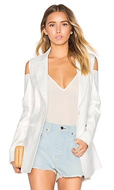 Cold Shoulder Blazer en Blanc