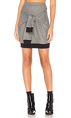Tie Mini Skirt in Grey