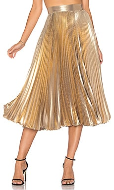 Pleated Skirt in Light Gold