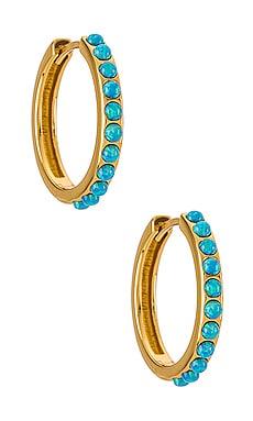 Blue Opal Crystal Maxi Hoop FAIRLEY $145