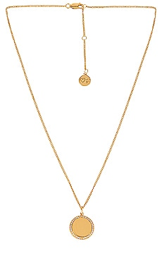 Halo Pave Crystal Necklace FAIRLEY $129