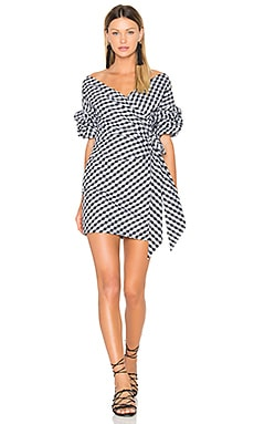 X REVOLVE Russo Mini Dress in Black Gingham