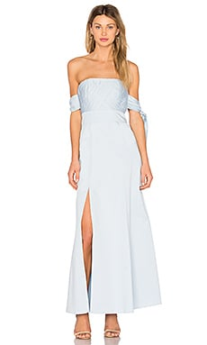 X REVOLVE Sandrine Maxi Dress in Pale Blue