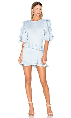 X REVOLVE Amelia Mini Dress in Pale Blue