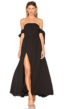 X REVOLVE Sandra Maxi Dress in Black