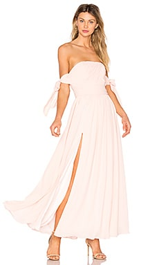 X REVOLVE Sandra Maxi Dress in Pale Link