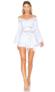 X REVOLVE Chiara Romper Set in White