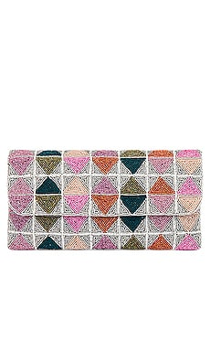 Triangle Foldover Clutch From St Xavier $130