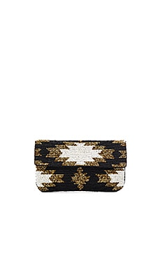 Ayla Clutch in Black & Ivory