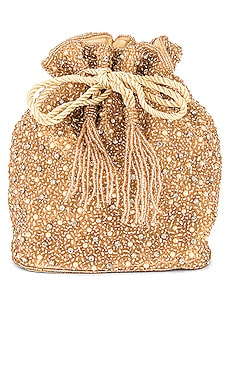 Mini Pearl Drawstring Bag From St Xavier $130