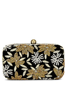 Velvet Flower Box Clutch From St Xavier $125