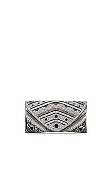 From St Xavier Kayla Clutch in Black, Silver, & Grey