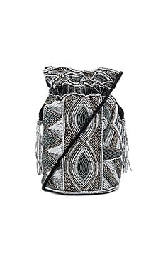 Duffie Drawstring Bag in Black & Silver