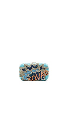 Squad Box Clutch in Blue