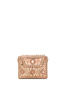 Elmie Clutch in Rose Gold & Rose Quartz