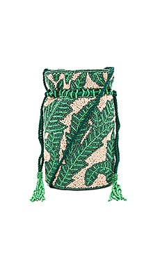 Nina Drawstring Bag in Green