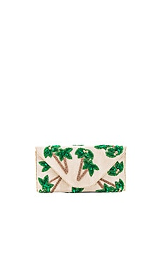 Tropica Clutch in Ivory Gold & Green