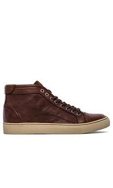 Frye Justin Mid Lace Sneaker in Cognac