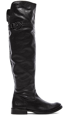 Frye Shirley Over The Knee Flat Boot en Noir