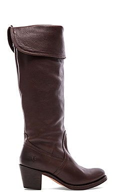 Frye Jane Tall Cuff in Dark Brown